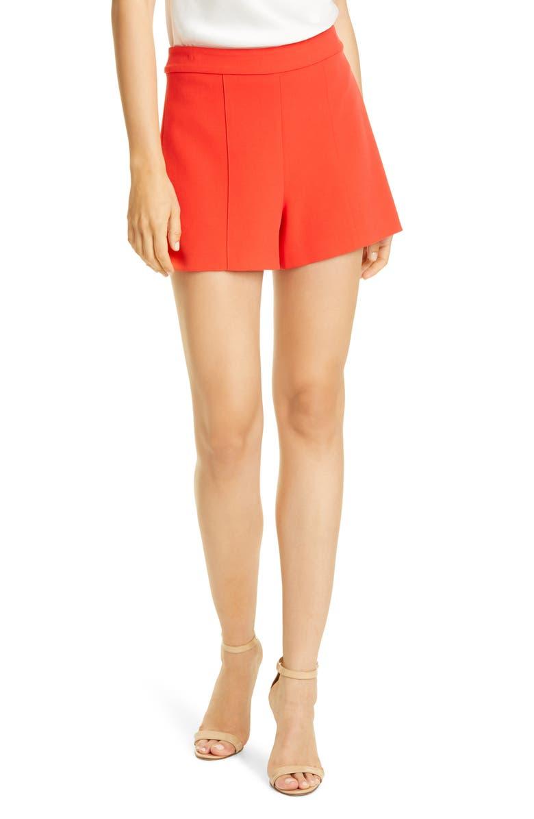 ALICE + OLIVIA Hera Shorts, Main, color, CHERRY