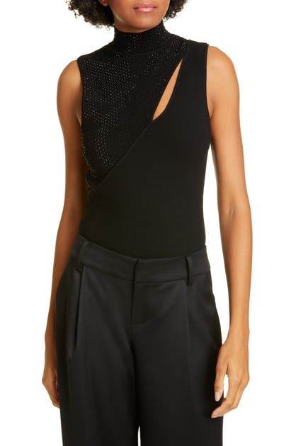 Alice And Olivia Tops ABBI EMBELLISHED TOP