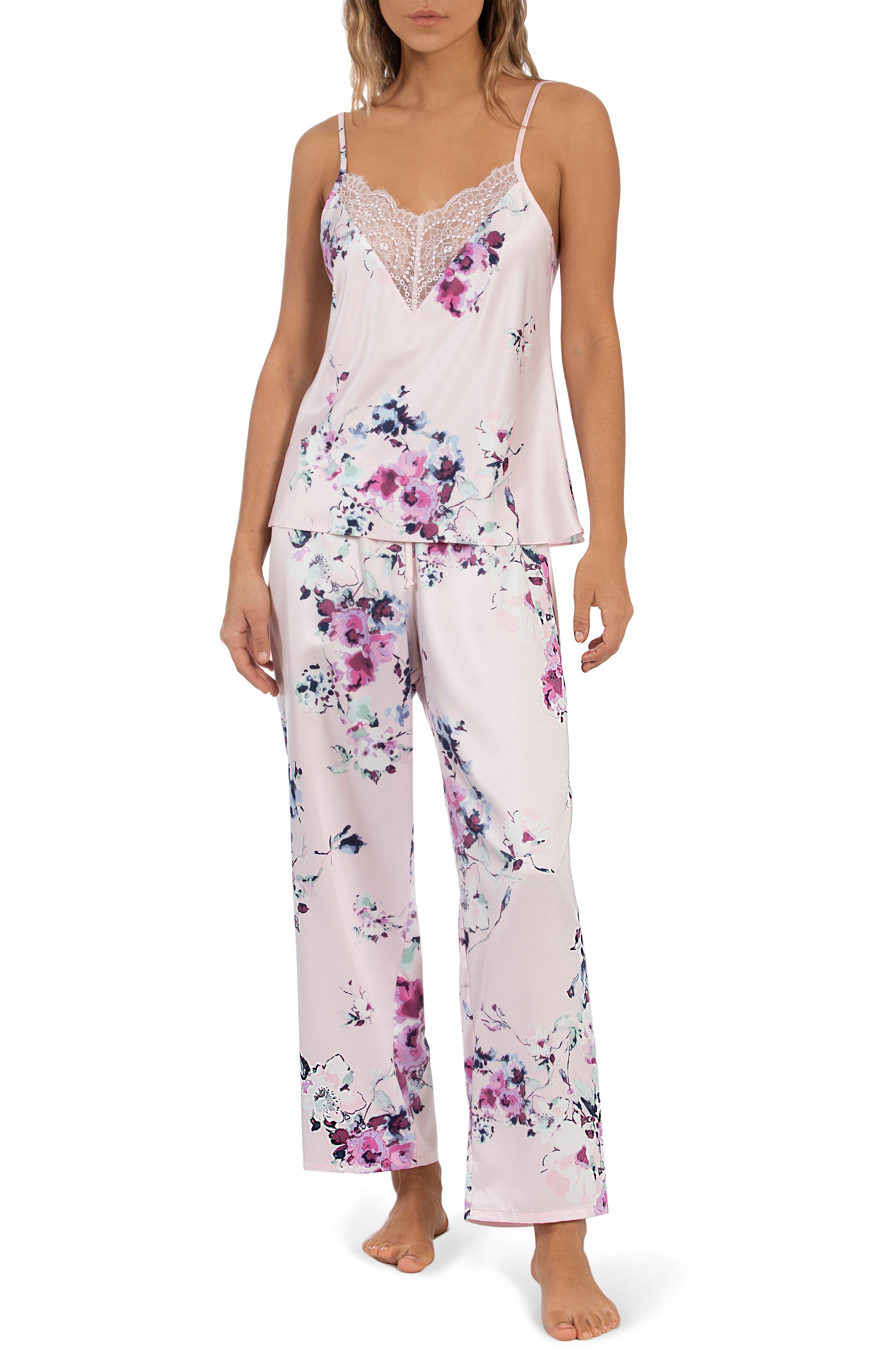 Camisole Satin Crop Pajamas