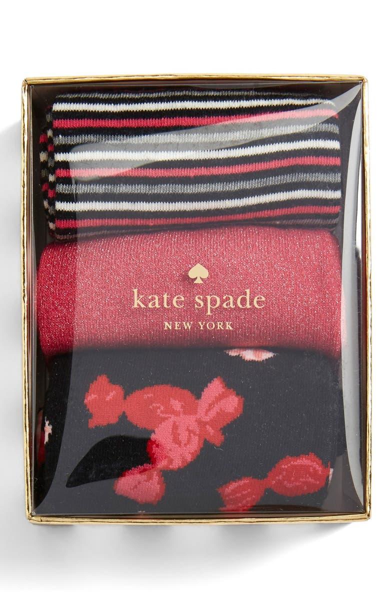 KATE SPADE NEW YORK trouser socks, Main, color, 001