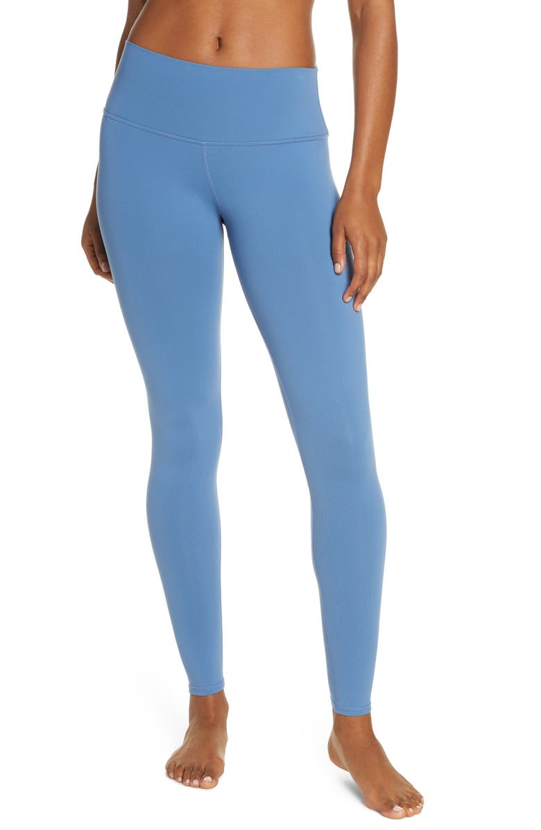 ALO Airbrush High Waist Leggings, Main, color, BLUE JEAN