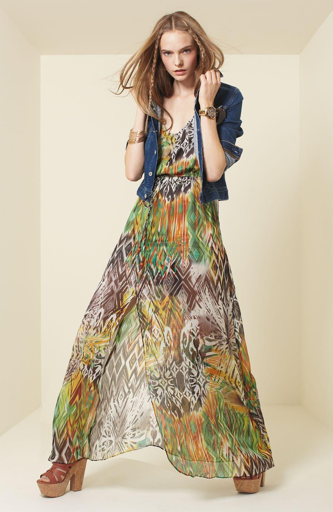 ,                             Print Maxi Dress,                             Alternate thumbnail 4, color,                             353