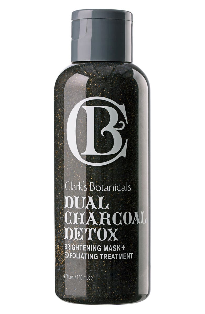 CLARK'S BOTANICALS Dual Charcoal Detox Brightening Mask + Exfoliating Treatment, Main, color, NO COLOR