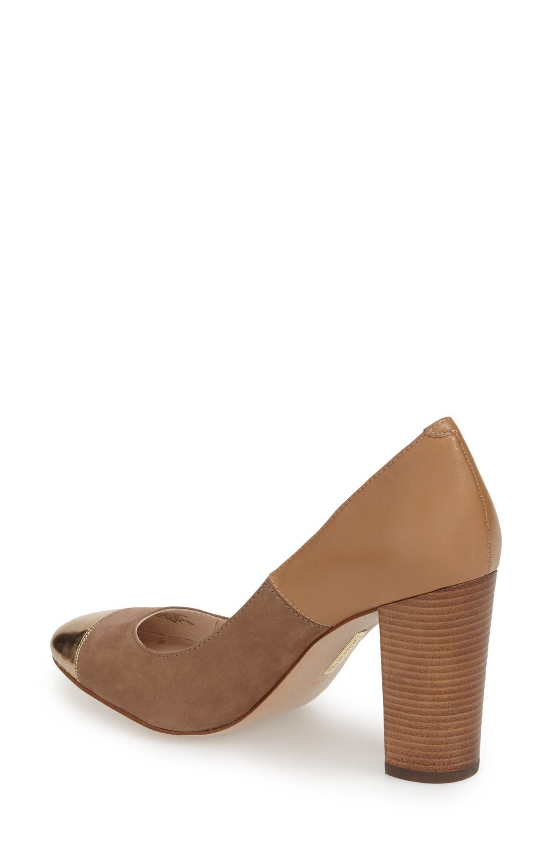 ,                             'Jakleen' Cap Toe Pump,                             Alternate thumbnail 6, color,                             710