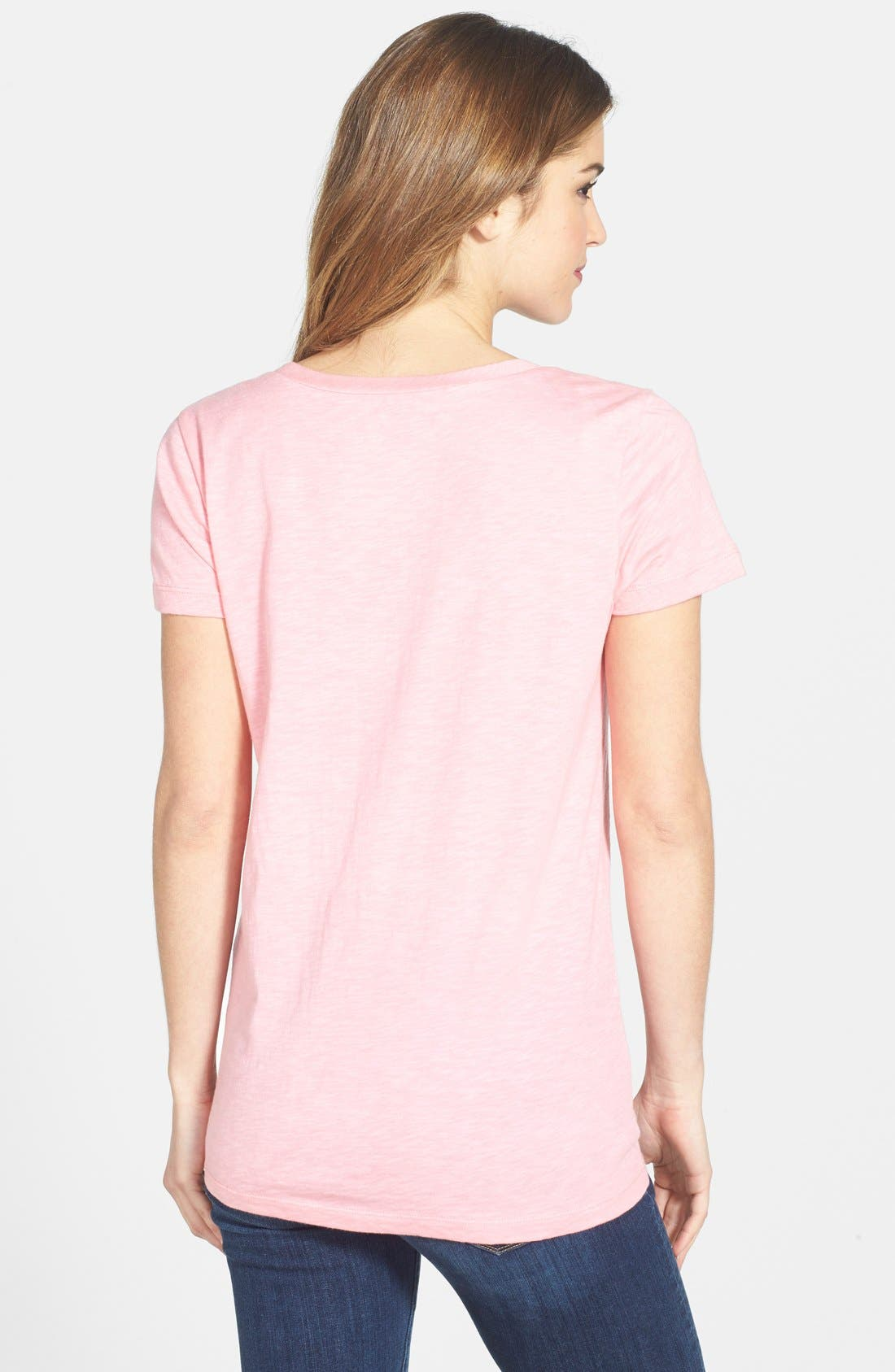 ,                             Relaxed Slub Knit U-Neck Tee,                             Alternate thumbnail 421, color,                             692