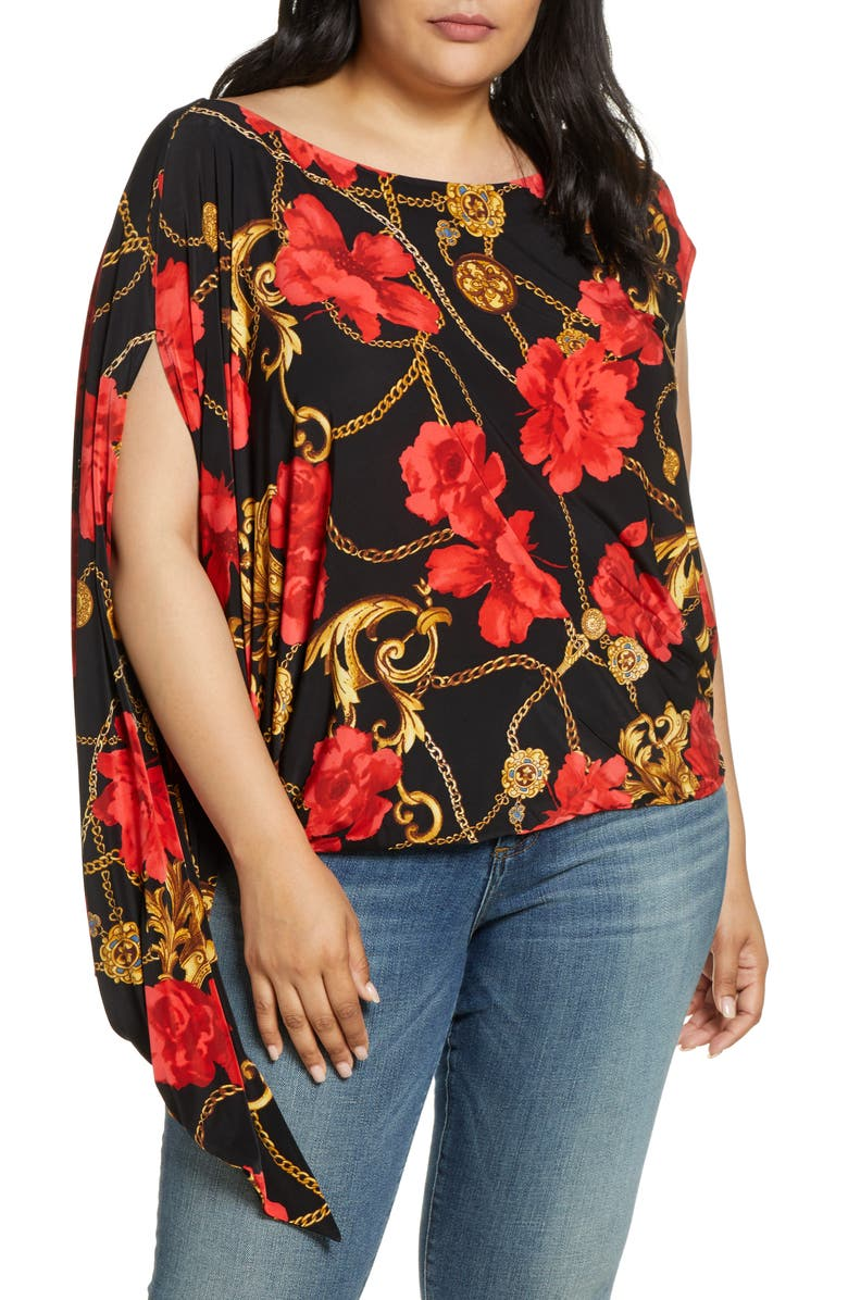 COLDESINA Jenny Print Top, Main, color, RED ROSE