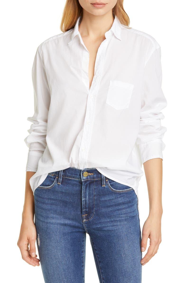 FRANK & EILEEN The Eileen Poplin Shirt, Main, color, WHITE LIGHT POPLIN