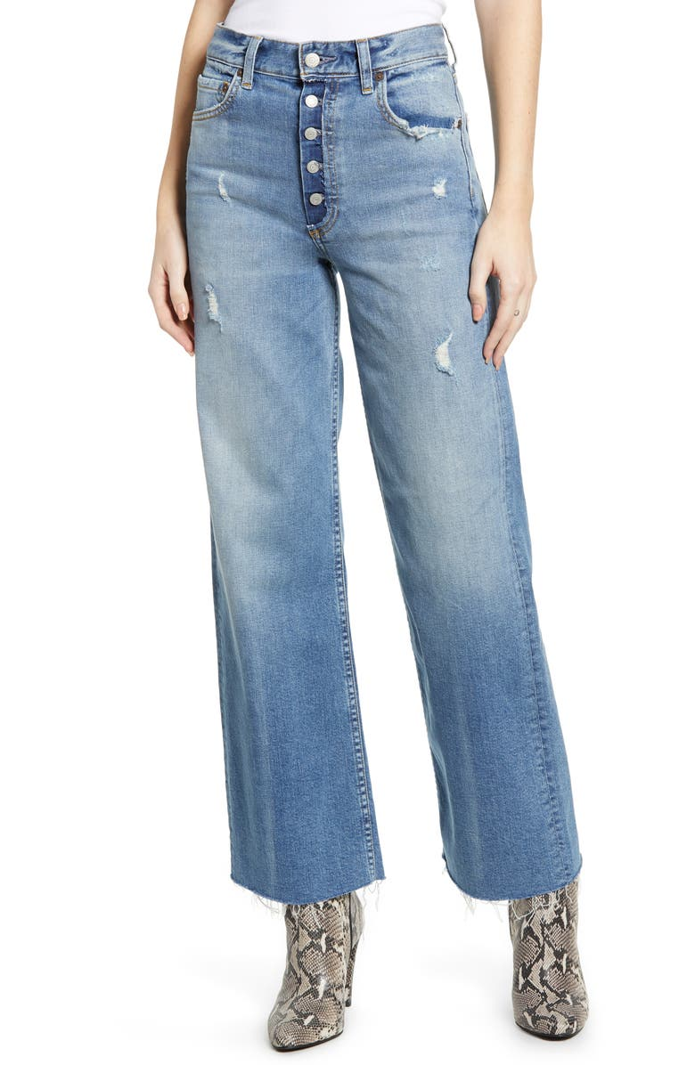 BOYISH JEANS The Mikey High Waist Ankle Straight Leg Jeans, Main, color, TWO FOR THE ROAD