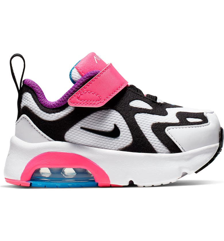 NIKE Air Max 200 Sneaker TD, Main, color, WHITE/ BLACK/ HYPER PINK/ BLUE