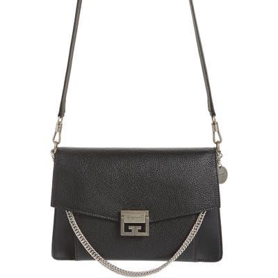 Givenchy Gv3 Goatskin Leather Shoulder Bag - Black