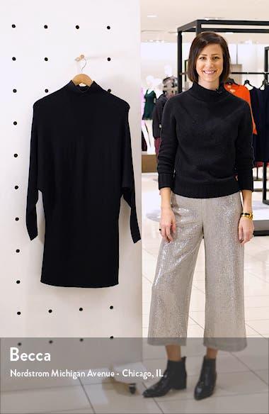 Long Sleeve Turtleneck Sweater Minidress, sales video thumbnail