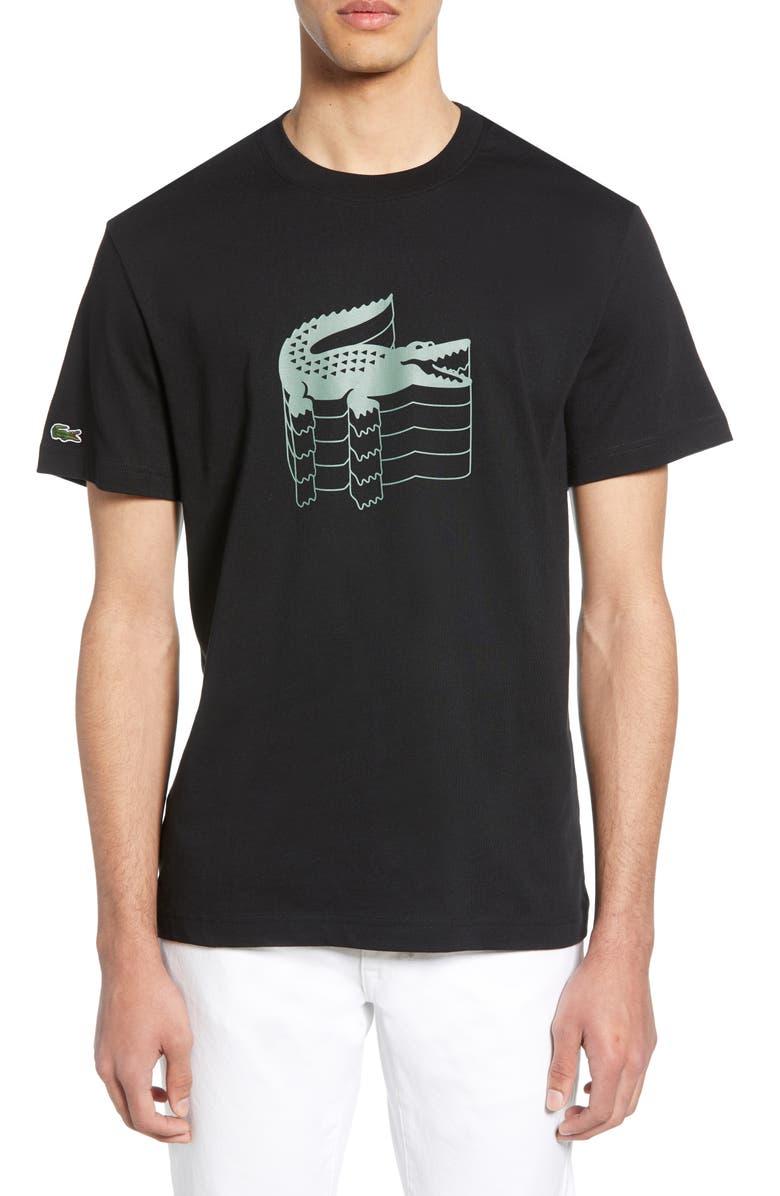 LACOSTE Regular Fit Graphic Crewneck T-Shirt, Main, color, 001