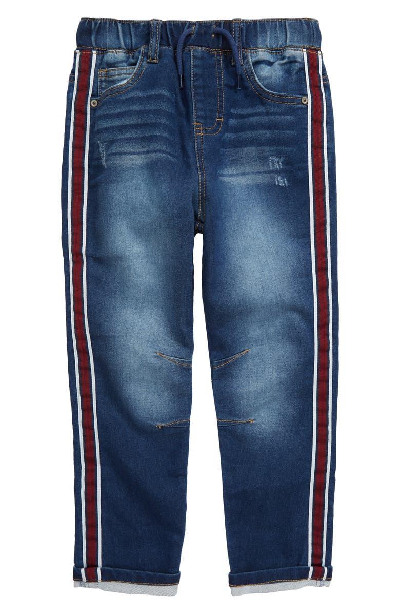 FLAPDOODLES Tape Denim Jeans, Main, color, INDIGO