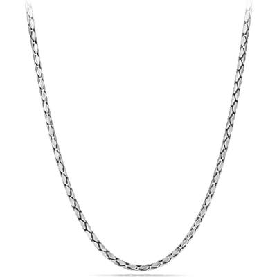 David Yurman Chain Small Fluted Chain Necklace, 3.m
