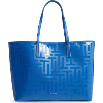 Ted Baker London Eleenor Logo Nylon Shopper Tote - Blue