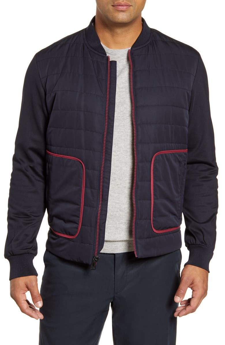 Quilted Bomber Jacket by Bugatchi