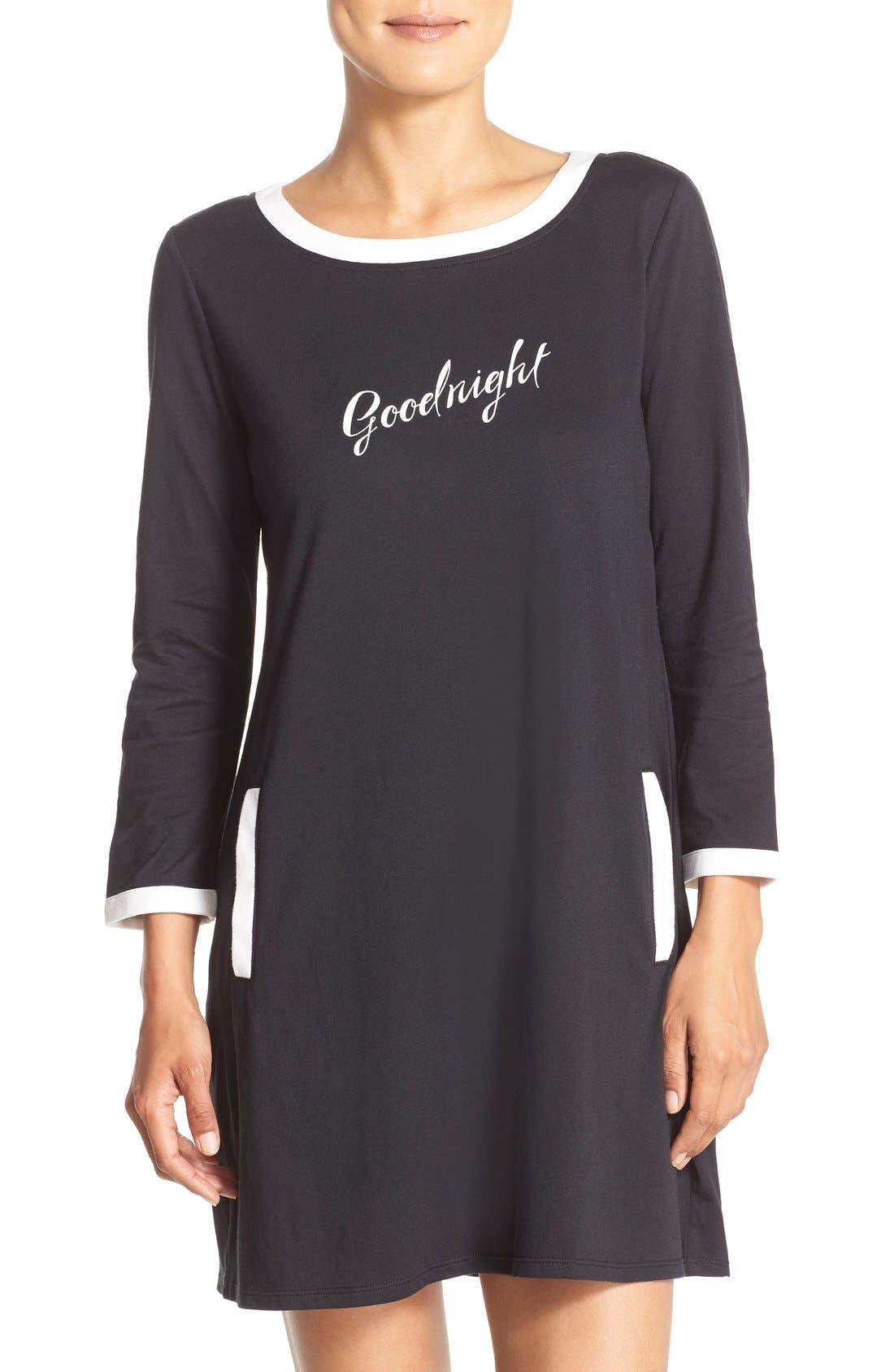 ,                             graphic sleep shirt,                             Main thumbnail 1, color,                             001