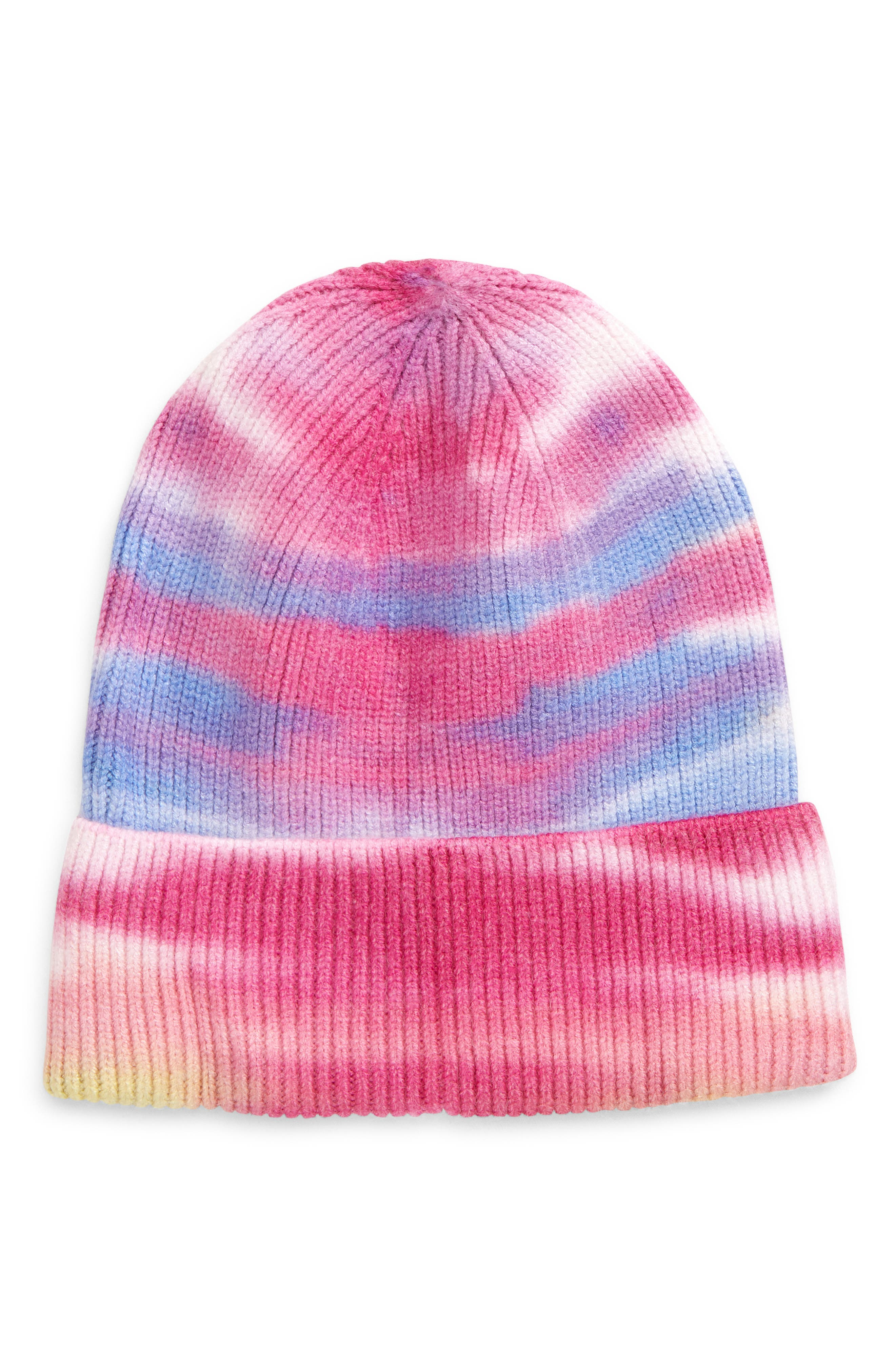 A trendy tie-dyed beanie is sized for kids and fashioned in a warm and machine-washable ribbed knit. Style Name: Tucker + Tate Kids\\\' Tye Die Beanie (Big Girl). Style Number: 6095713. Available in stores.
