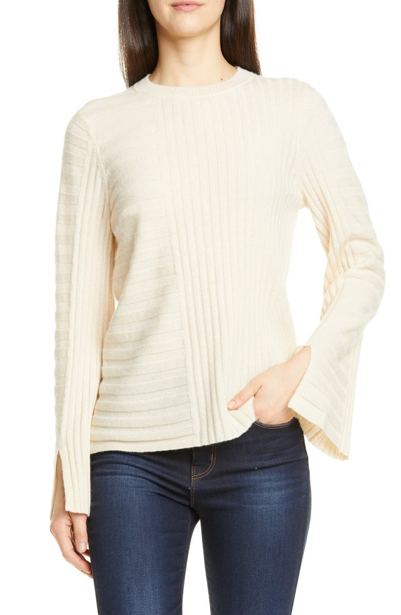 EQUIPMENT Emmaline Mixed Rib Wool & Cashmere Sweater, Main, color, 900
