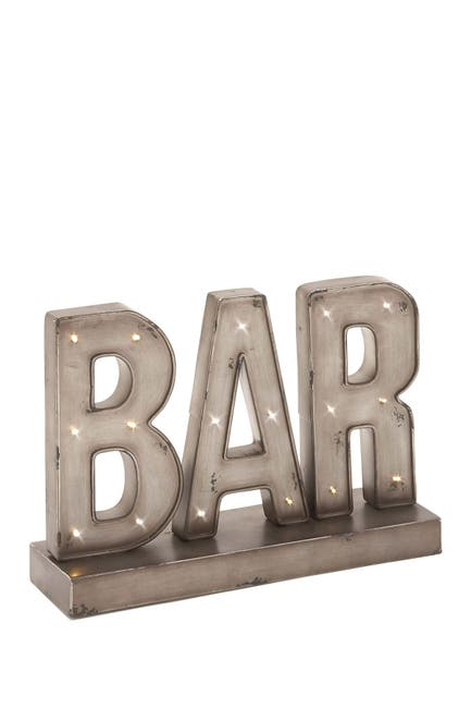 Image of Willow Row Metal LED Bar Sign