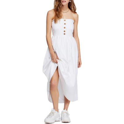Free People Lilah Strapless Maxi Dress, White