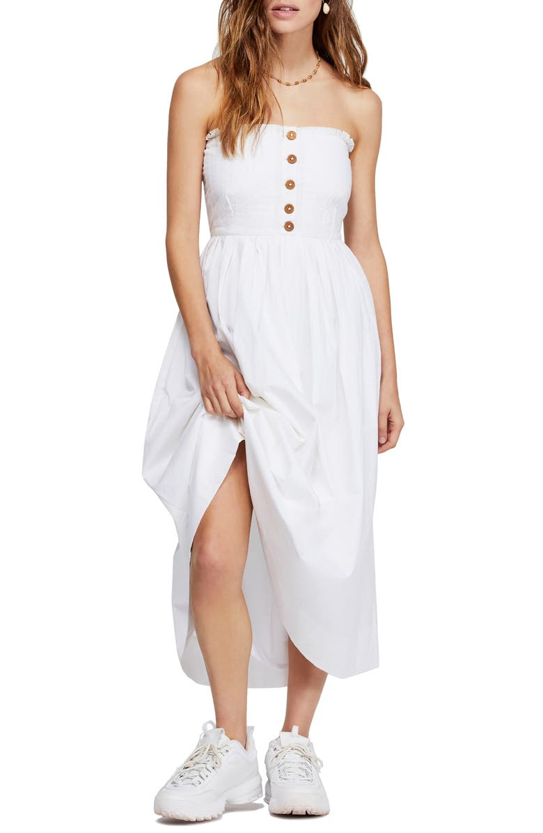 FREE PEOPLE Lilah Strapless Maxi Dress, Main, color, 100