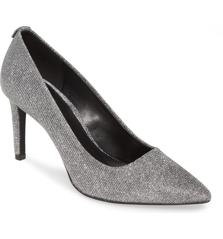 MICHAEL MICHAEL KORS Dorothy Flex Pump, Main, color, BLACK/ SILVER METALLIC MESH