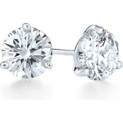 Kwiat 1.41Ct Tw Diamond & Platinum Stud Earrings