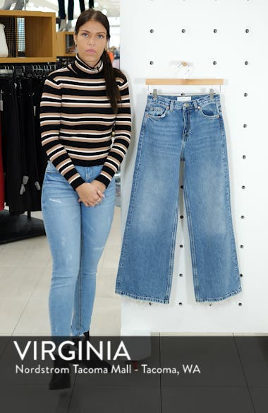 High Waist Wide Leg Jeans, sales video thumbnail