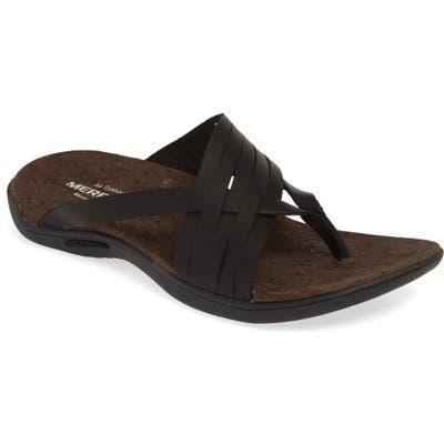 Merrell District Mahana Flip Flop, Black