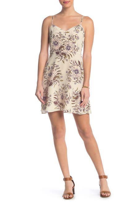 Image of Madewell Silk Floral Button Detail Dress