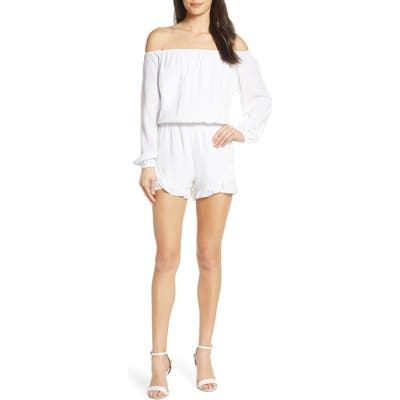 Fraiche By J Off The Shoulder Romper, White