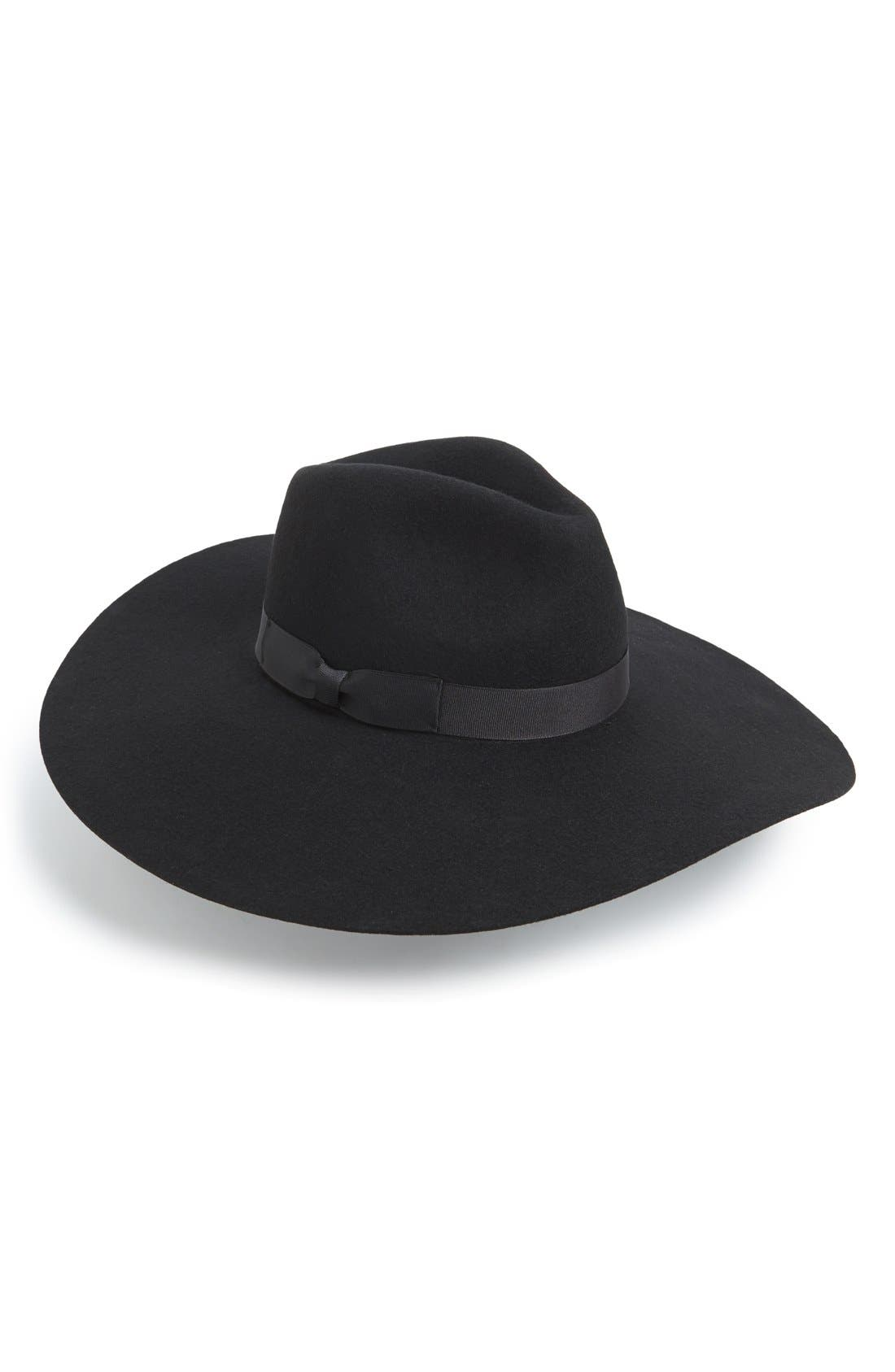 'Montana Midnight Muse II' Floppy Wool Hat, Main, color, 001