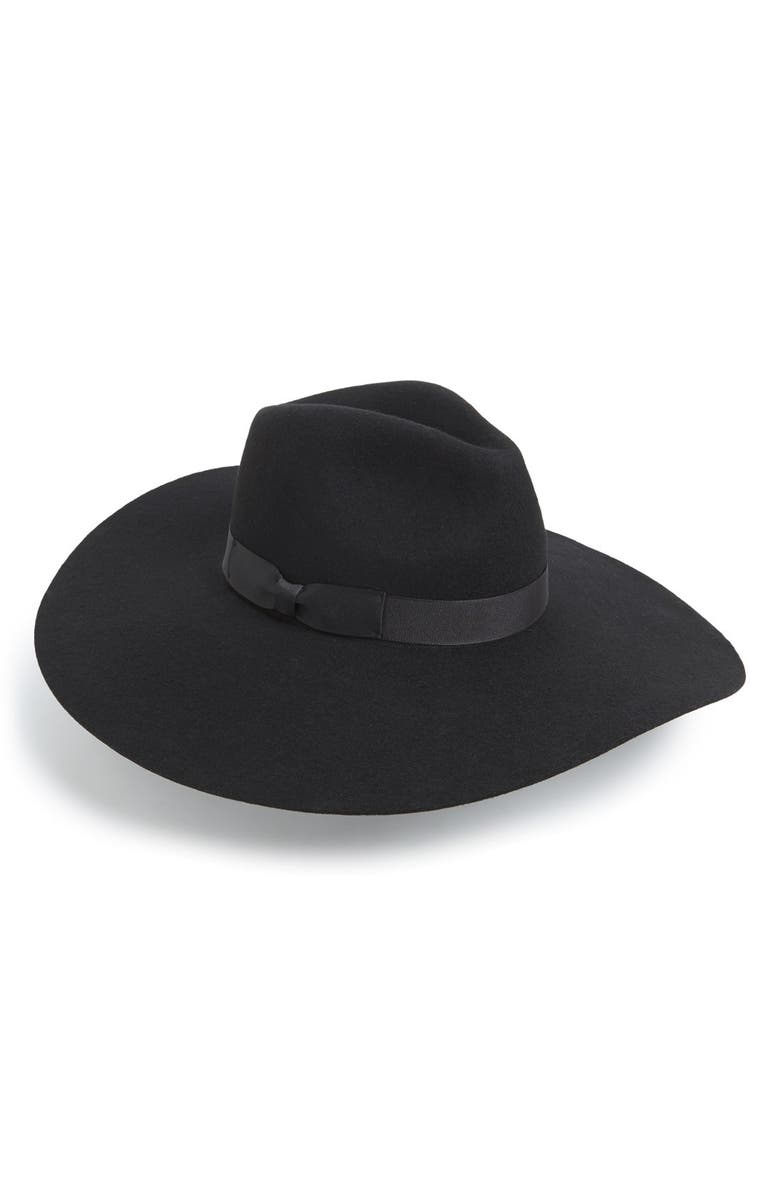 LACK OF COLOR 'Montana Midnight Muse II' Floppy Wool Hat, Main, color, 001