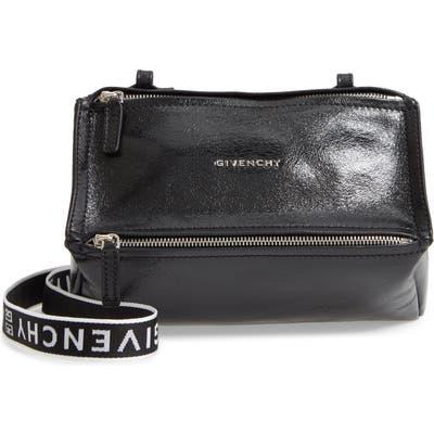 Givenchy Mini Pandora Glazed Leather Shoulder Bag - Black