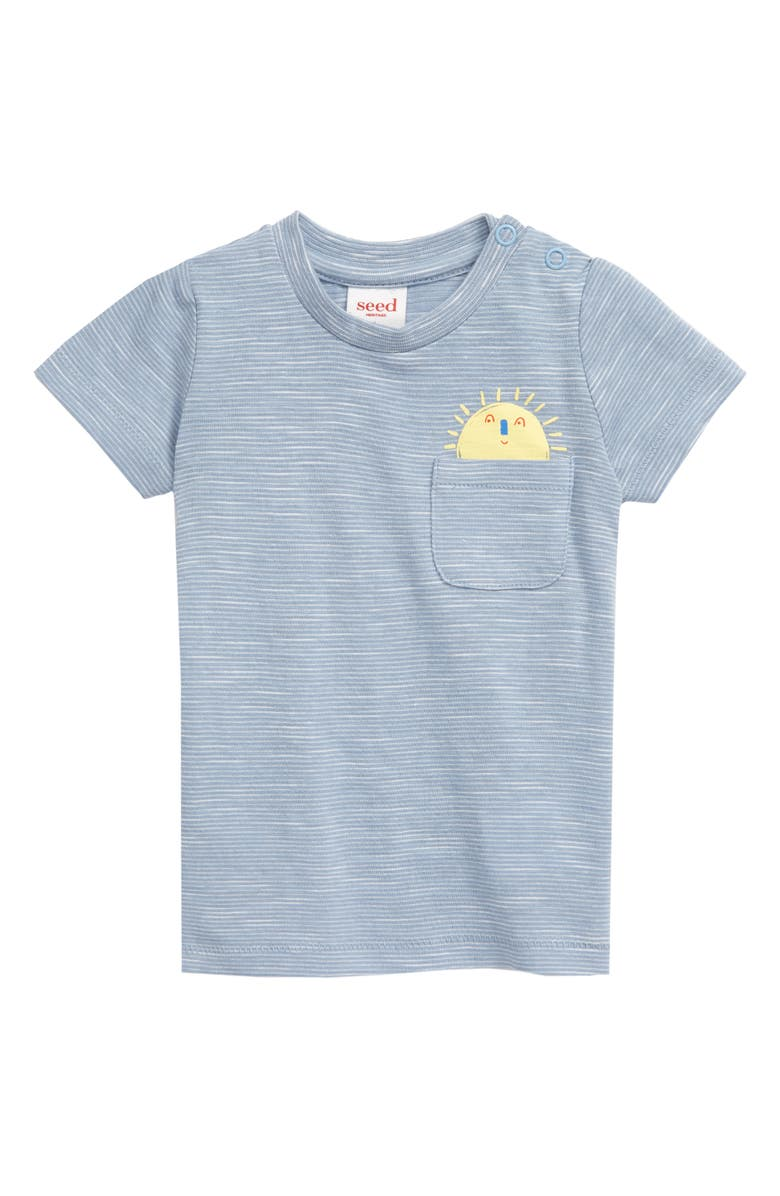 SEED HERITAGE Sun Pocket T-Shirt, Main, color, CLOUD BLUE