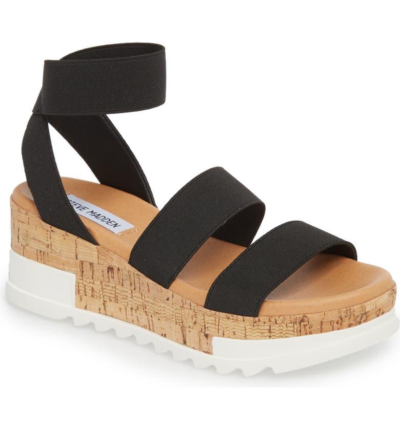 STEVE MADDEN Bandi Platform Wedge Sandal, Main, color, BLACK