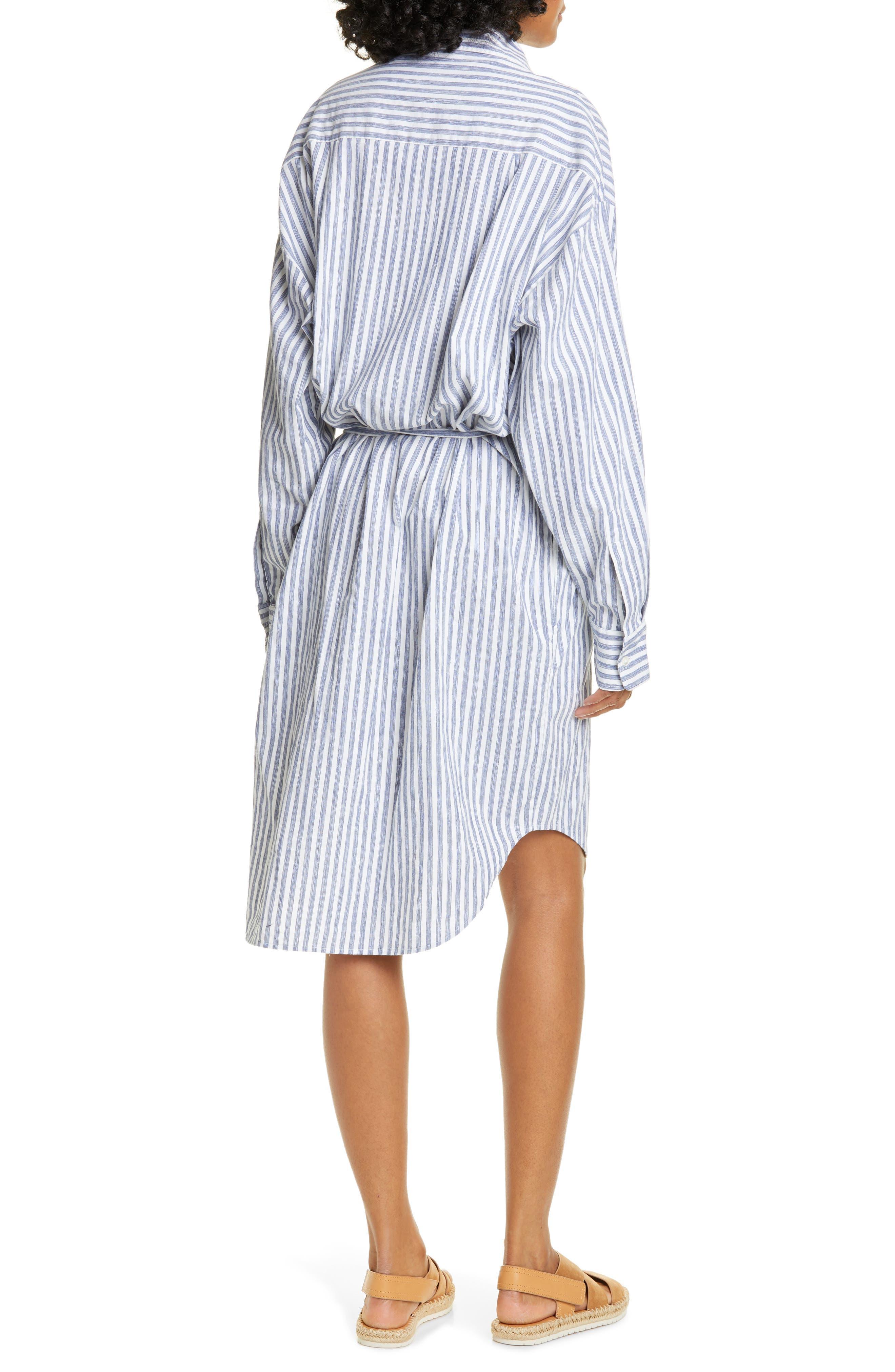 ,                             Oversize Stripe Shirt,                             Alternate thumbnail 2, color,                             INDIGO