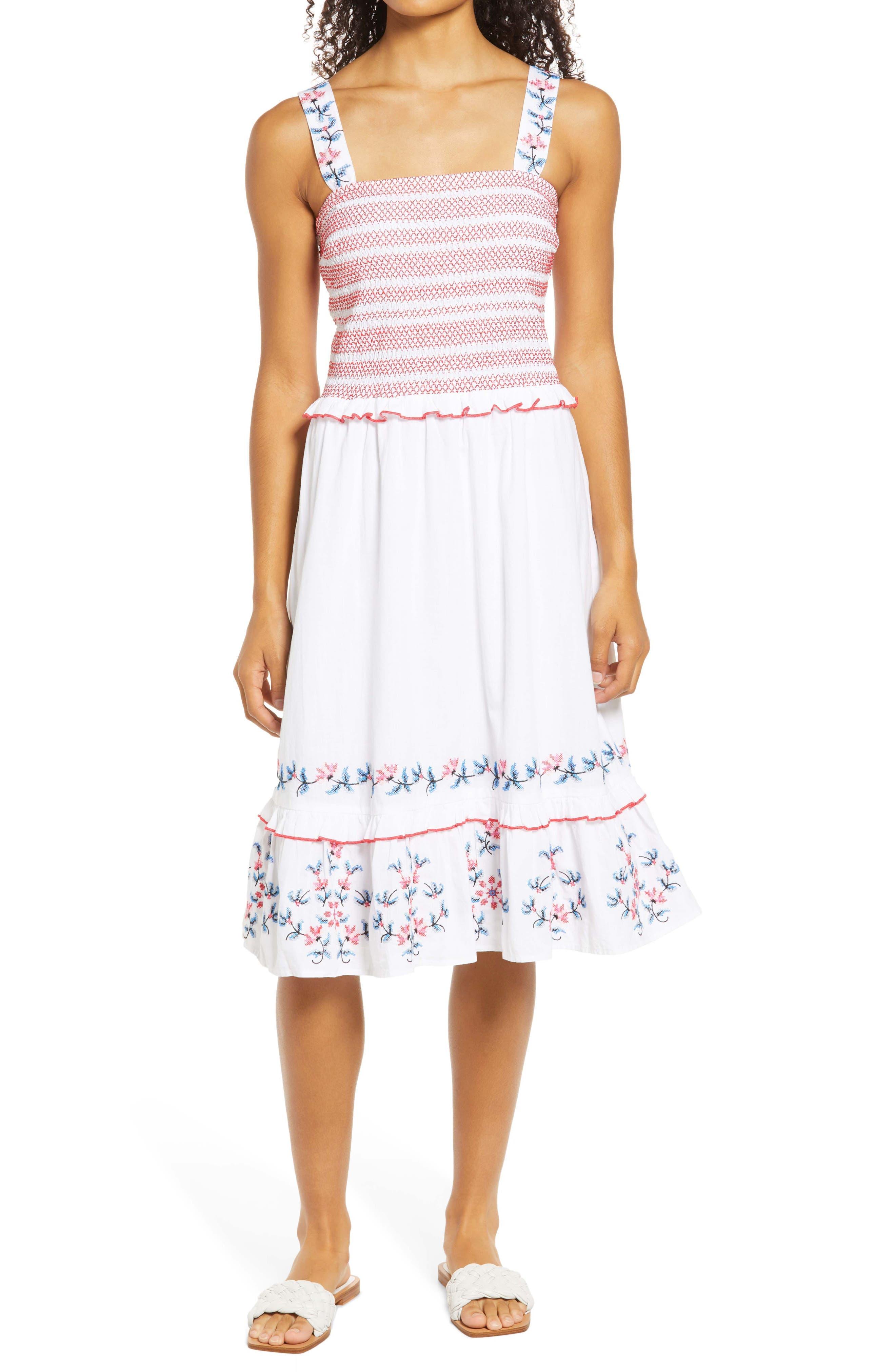 Taylor Smocked Sleeveless Dress