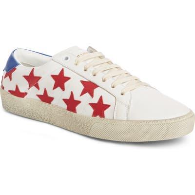 Saint Laurent Classic Court Sneaker, White