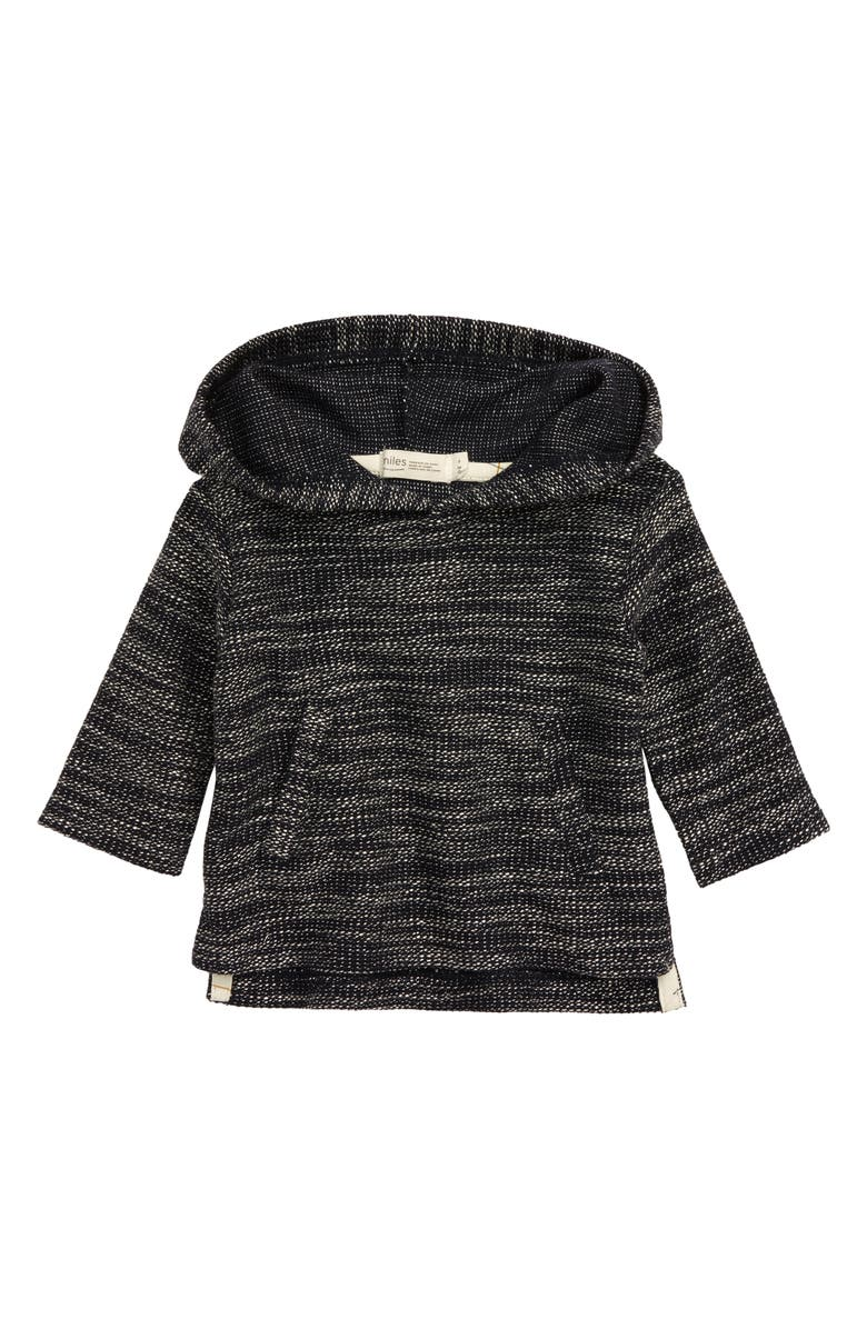 MILES BABY Knit Hoodie, Main, color, NAVY