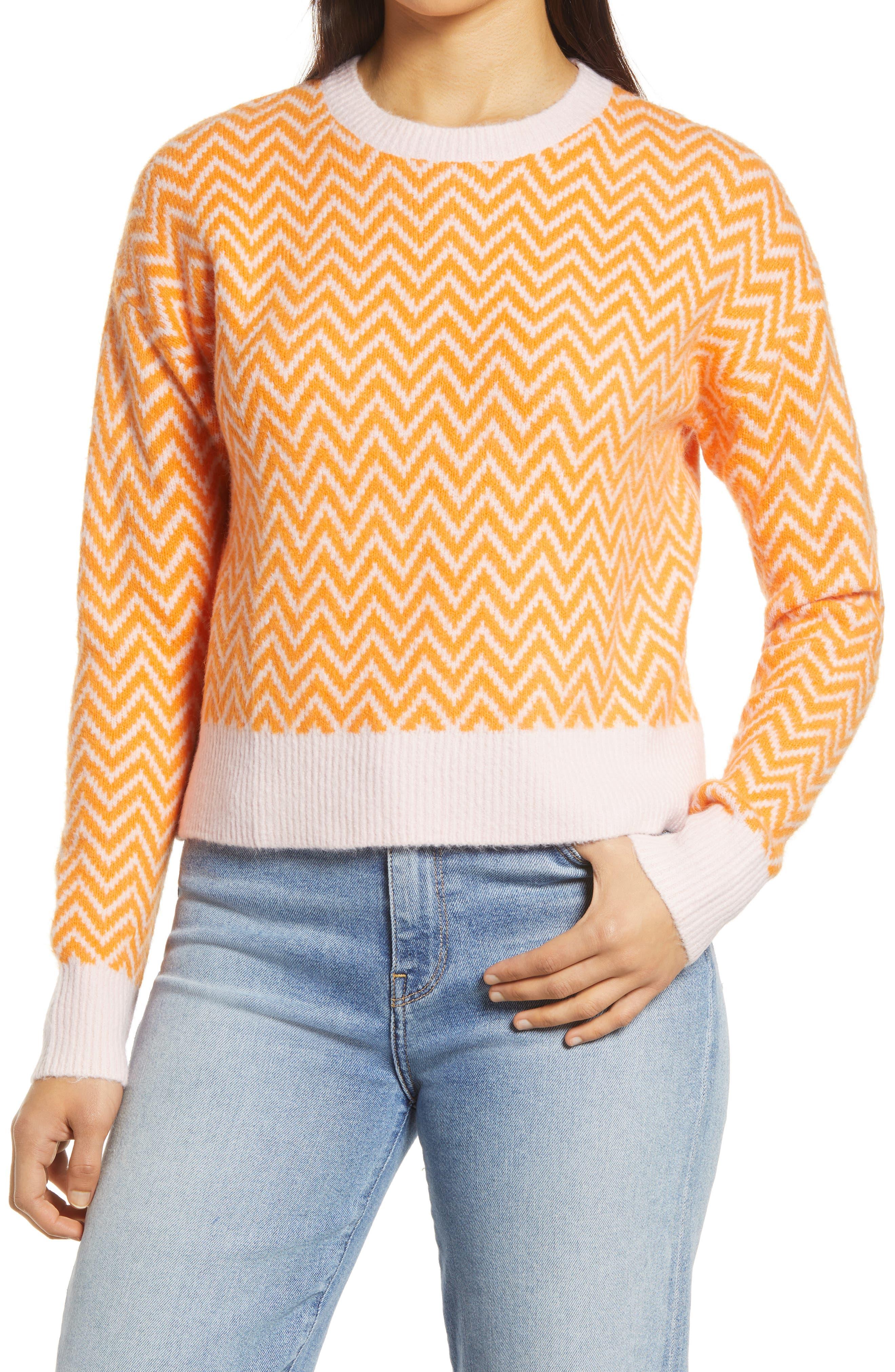Halogen® x Atlantic-Pacific Boxy Zigzag Sweater | Nordstrom