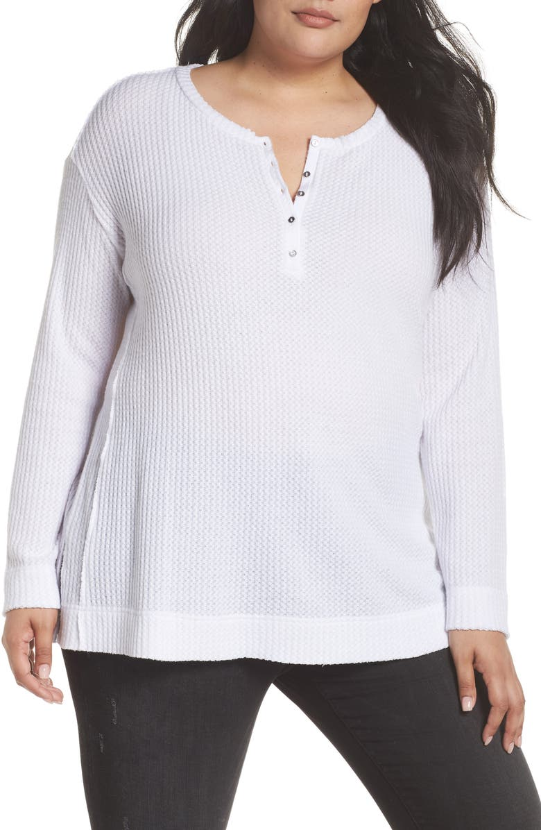 CASLON<SUP>®</SUP> Thermal Henley, Main, color, WHITE