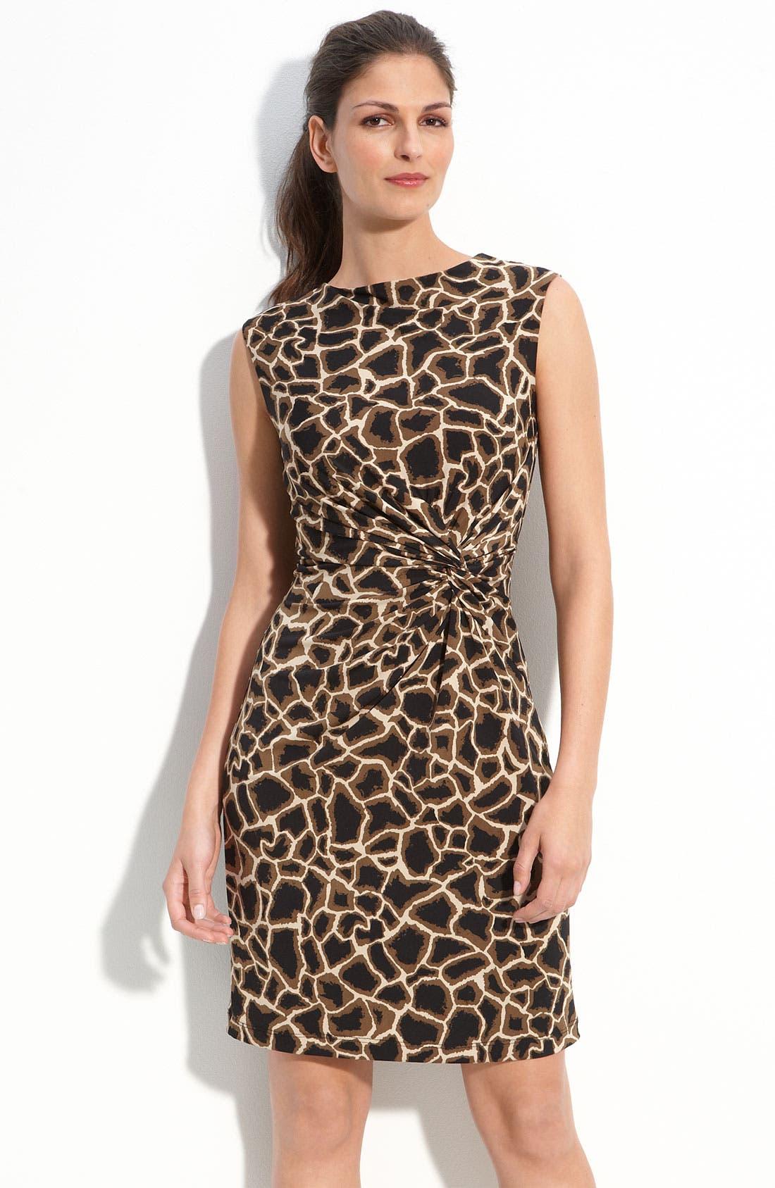 Print Jersey Sheath Dress, Main, color, 060