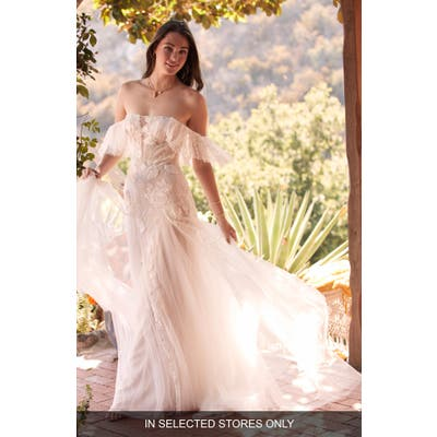 Willowby Mackinnon Off The Shoulder Lace & Tulle Wedding Dress
