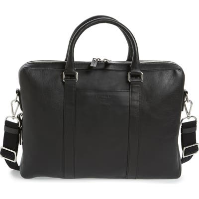 Shinola Signature Leather Computer Briefcase -