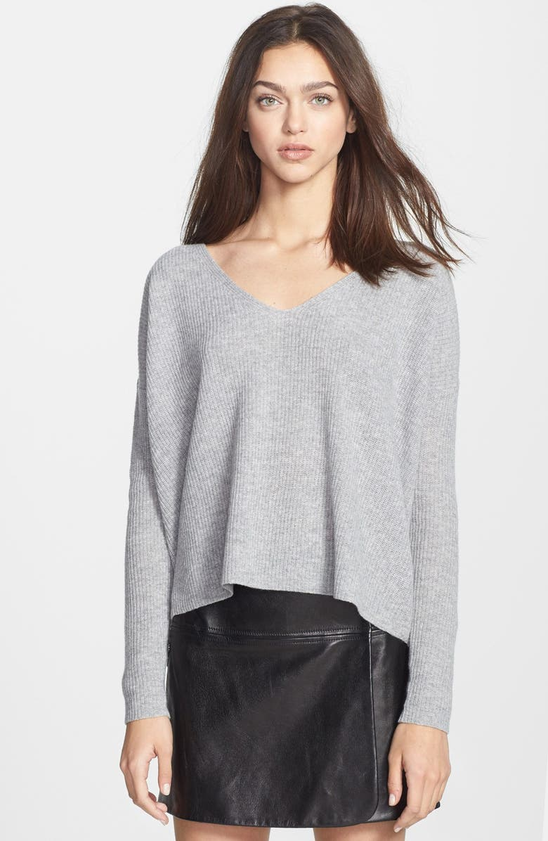 THEORY 'Randelle' Crop Wool Sweater, Main, color, 031