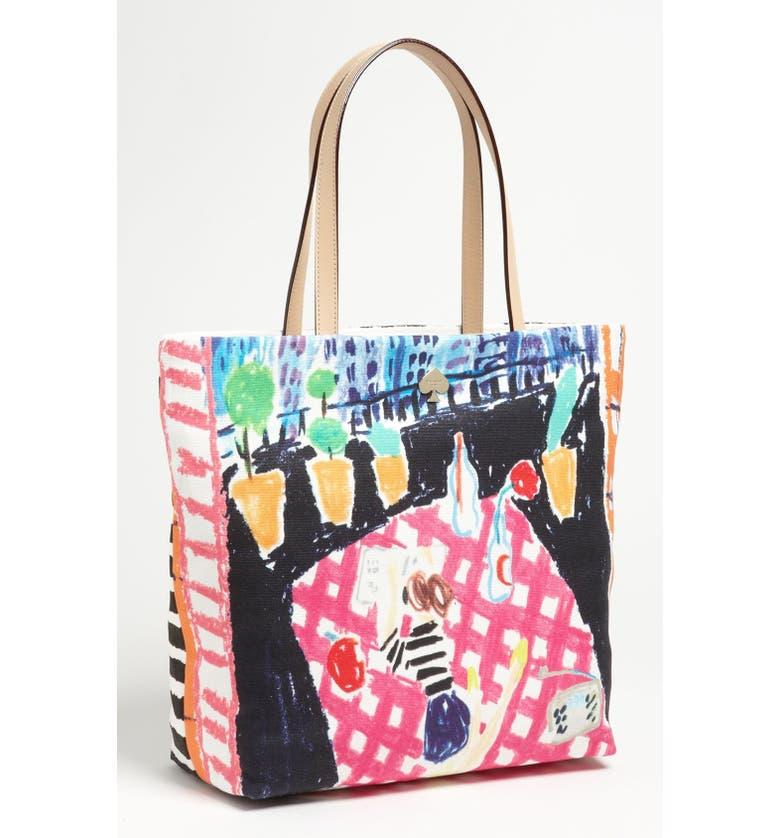 KATE SPADE NEW YORK 'day tripper' canvas bon shopper, Main, color, 433