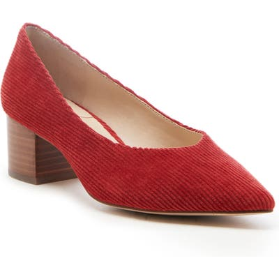 Sole Society Kerah Pointed Toe Pump- Red