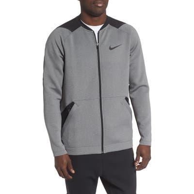 Nike Pro Dri-Fit Zip Fleece Jacket, Grey